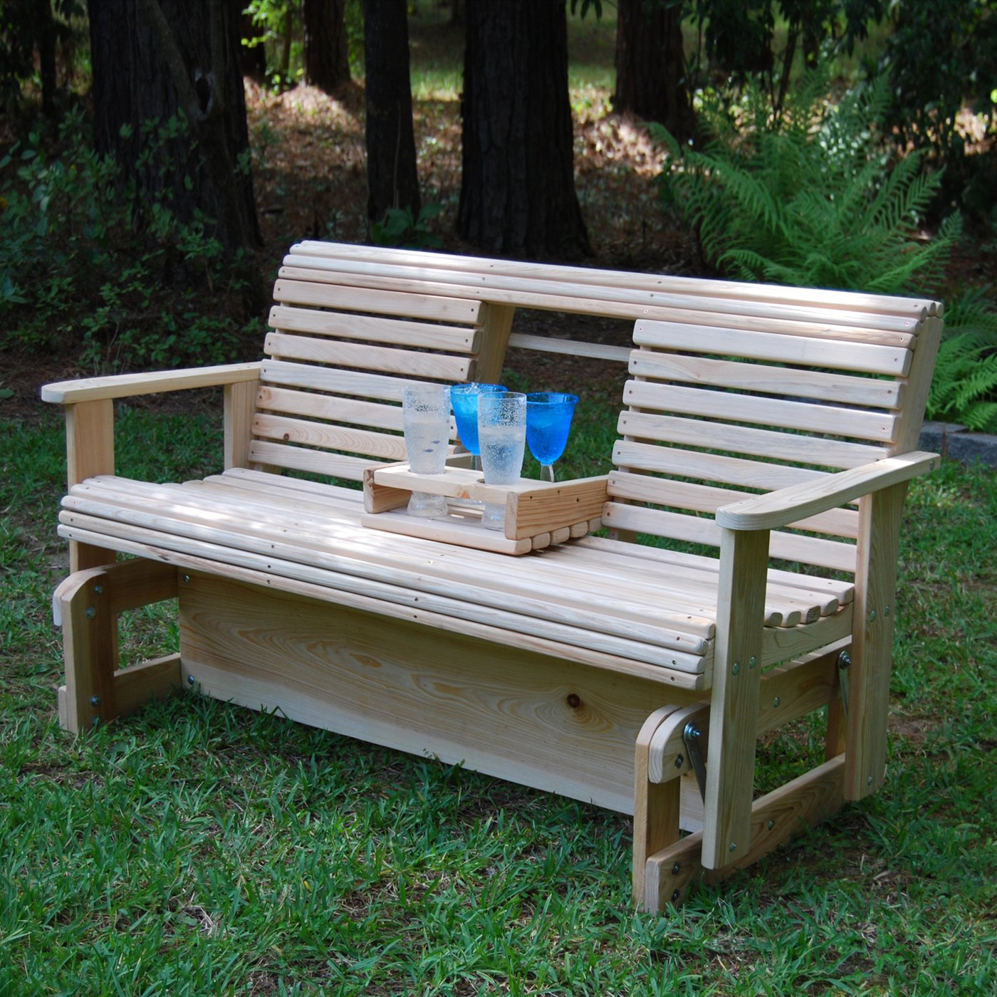 Outdoor Glider Bench White : Outdoor Decorations – What Is Within Hardwood Porch Glider Benches (View 6 of 25)