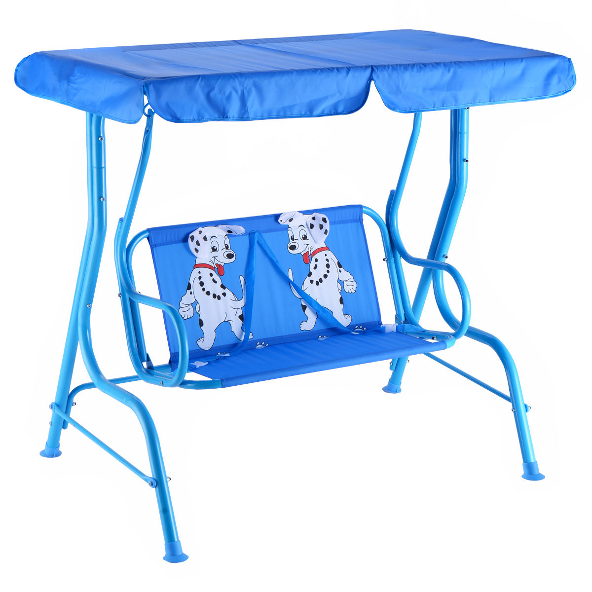 Outdoor Kids Patio Swing Bench With Canopy 2 Seats Inside Canopy Porch Swings (View 17 of 25)