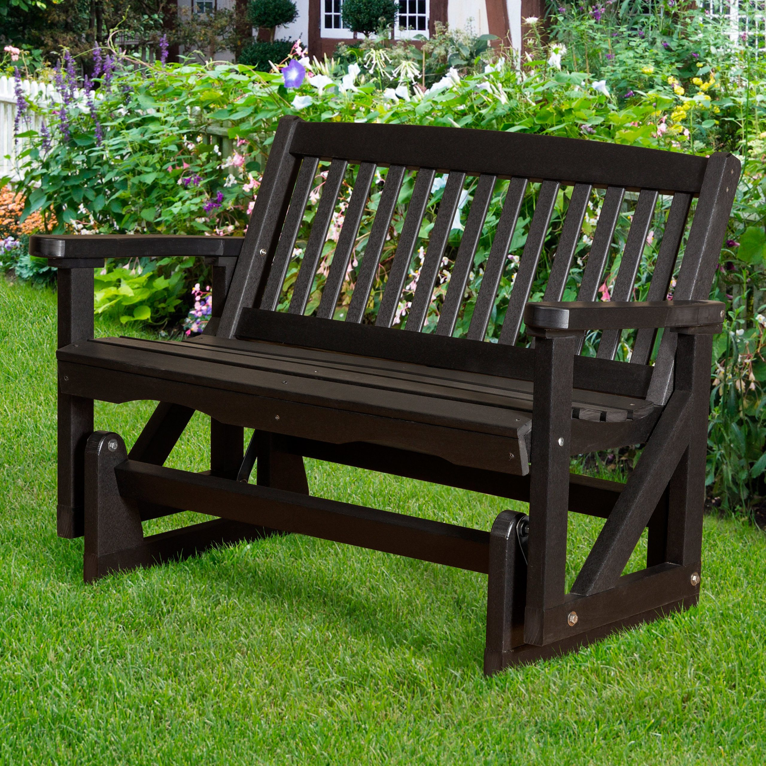 Outdoor Little Cottage Classic Mission Patio Glider – Lcc For Classic Glider Benches (View 18 of 25)