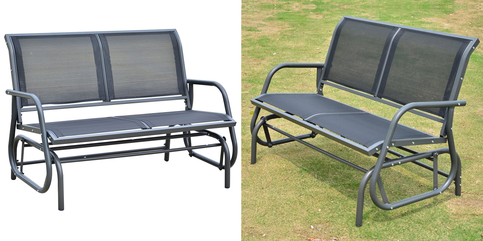 Outdoor Patio Glider Bench Swing — Homebnc With Outdoor Patio Swing Glider Bench Chairs (View 19 of 25)