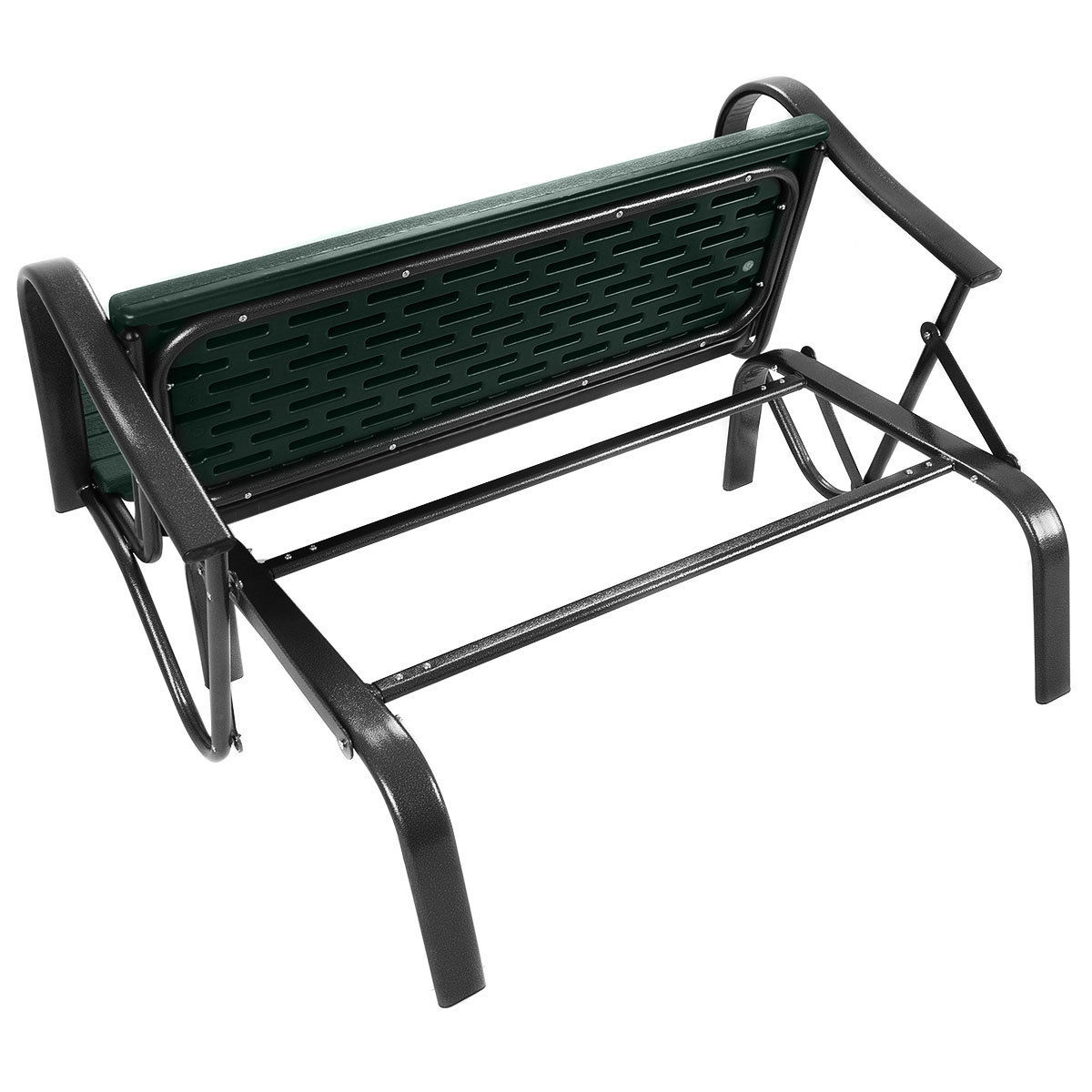 Outdoor Patio Swing Porch Rocker Glider Bench Loveseat In Outdoor Patio Swing Porch Rocker Glider Benches Loveseat Garden Seat Steel (View 9 of 25)