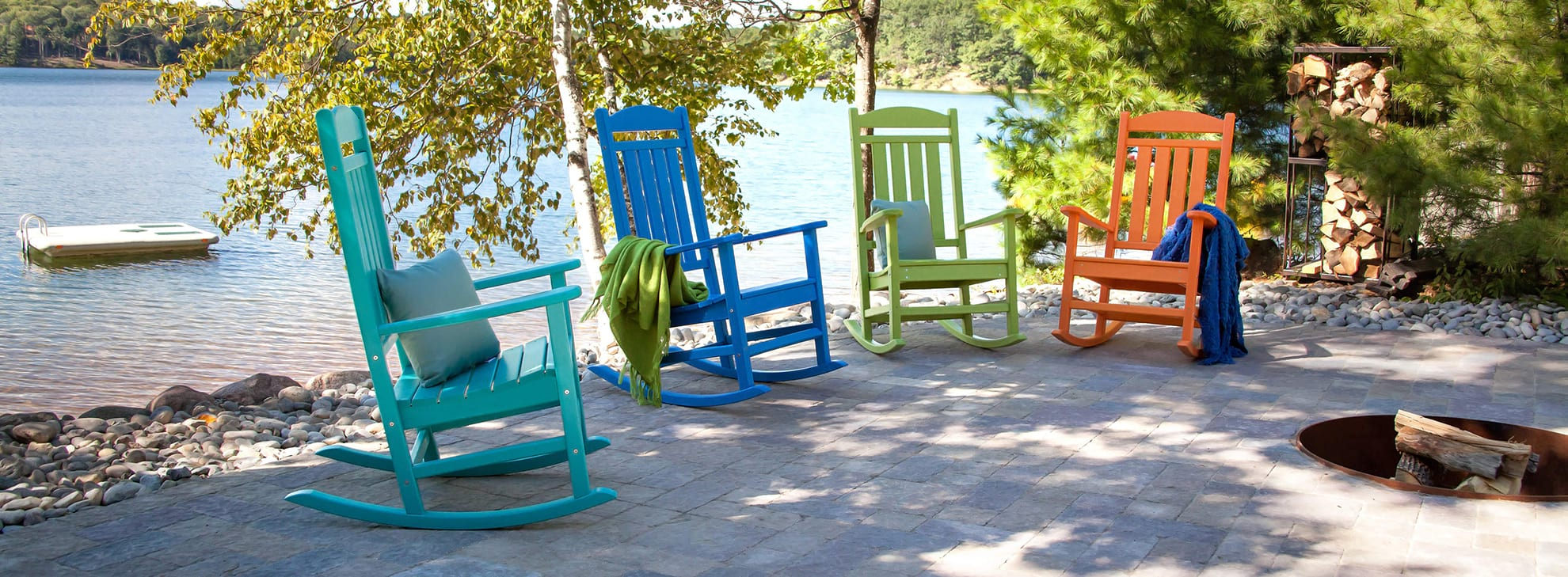 Outdoor Rocking Chairs & Rockers | Polywood® Official Store Intended For Rocking Benches With Cushions (View 22 of 25)