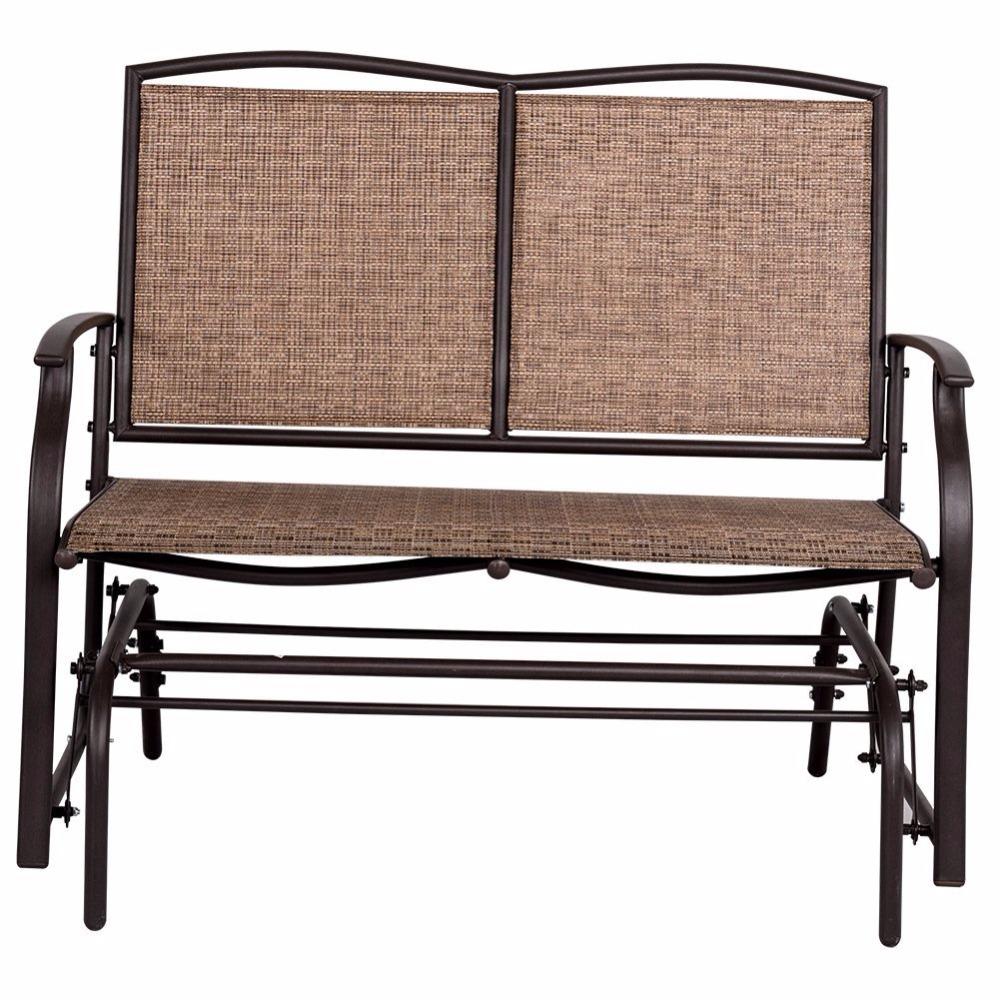 Outdoor Steel Loveseat Double Swing Glider Rocking Chair – Buy Swing Glider Bench,glider Rocking Chair,double Swing Chair Product On Alibaba Inside Outdoor Swing Glider Chairs With Powder Coated Steel Frame (View 15 of 25)