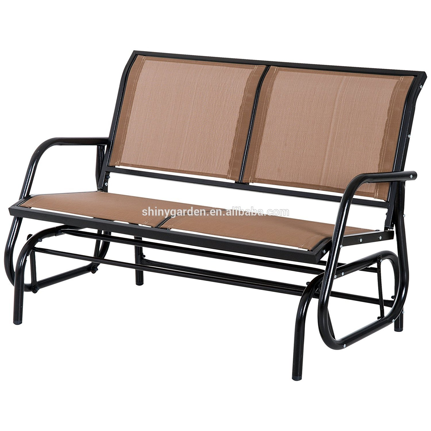 Outdoor Swing Glider Chair,patio Bench For 2 Person,garden Rocking Seating – Buy Swing Glider Chair Product On Alibaba Pertaining To Outdoor Steel Patio Swing Glider Benches (View 10 of 25)