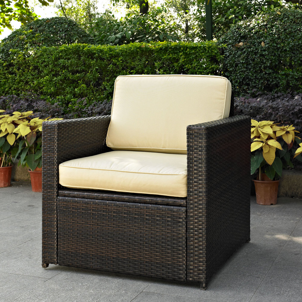 Outdoor Wicker Chair Cushions : Outdoor Decorations – Simple In Cushioned Glider Benches With Cushions (View 27 of 27)