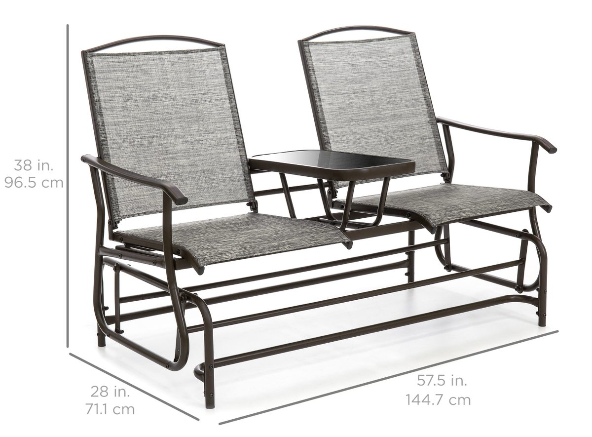 Outdoorglider Hashtag On Twitter With Outdoor Retro Metal Double Glider Benches (View 24 of 25)