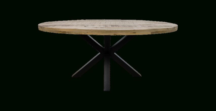 Oval Dining Table Portland – 180X100 Cm – Mango Wood/iron Regarding Iron Dining Tables With Mango Wood (View 15 of 25)