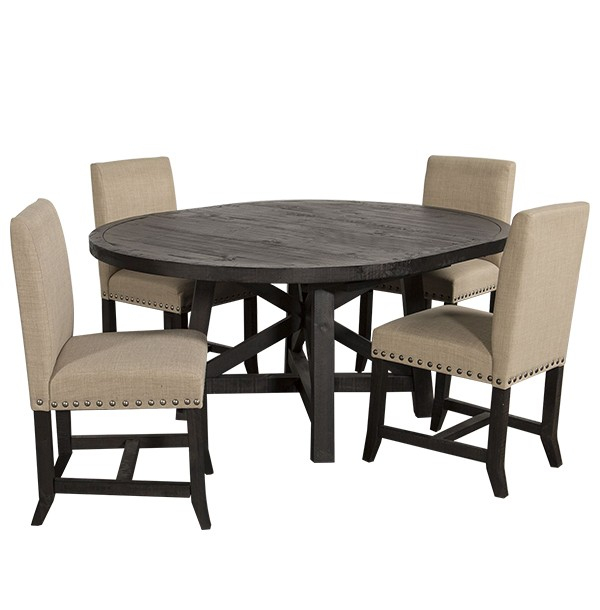 Oval Shape Contemporary 4 Seater Dining Set In Dark Brown Inside Contemporary 4 Seating Oblong Dining Tables (View 19 of 25)