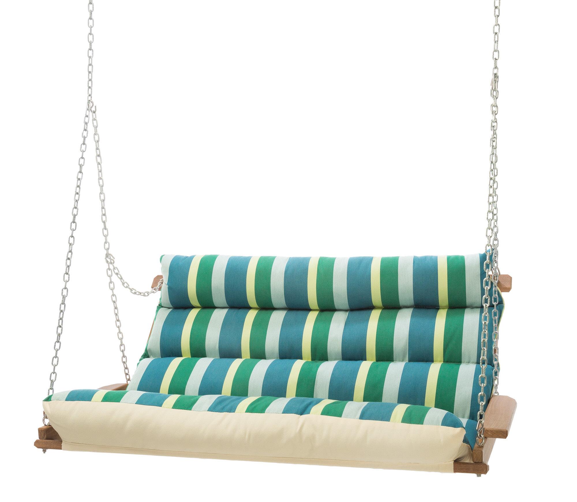 Pacheco Deluxe Sunbrella Porch Swing In Deluxe Cushion Sunbrella Porch Swings (View 3 of 25)