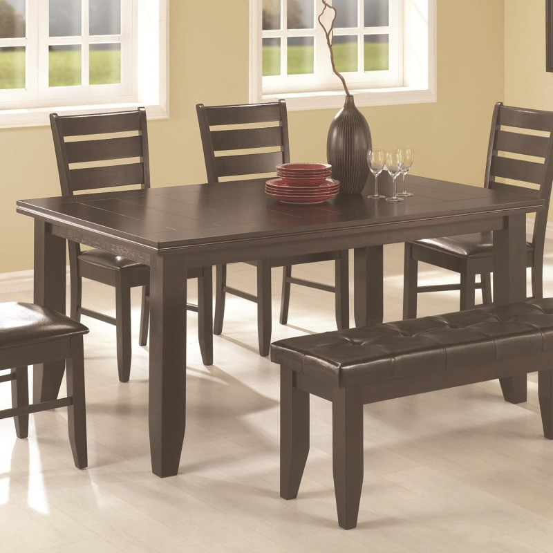 Page Contemporary Rectangular Semi Formal Dining Table Inside Coaster Contemporary 6 Seating Rectangular Casual Dining Tables (View 16 of 25)