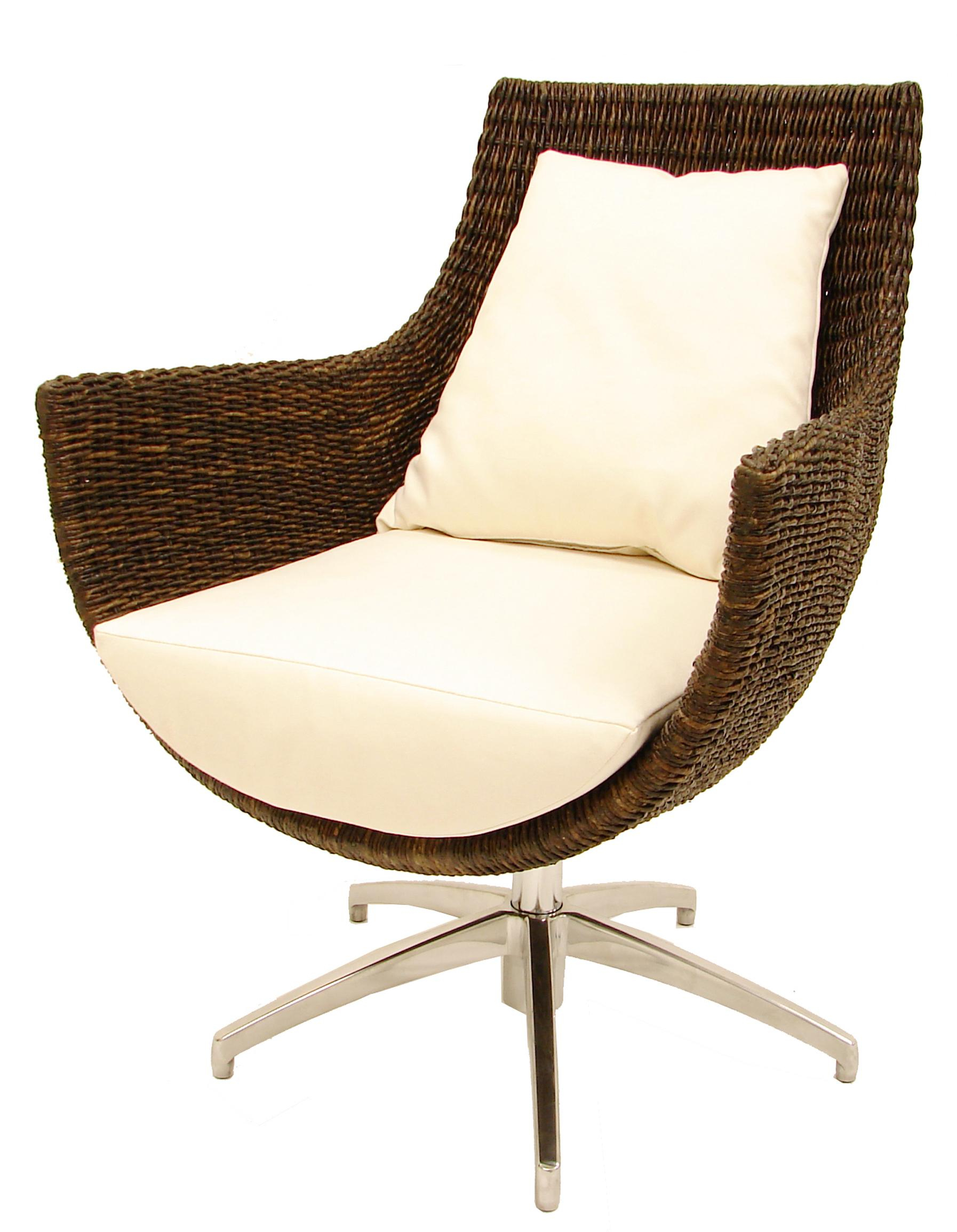 Palecek Accent Chairspalecek Modern High Back Rattan Pertaining To Woven High Back Swivel Chairs (Image 16 of 25)