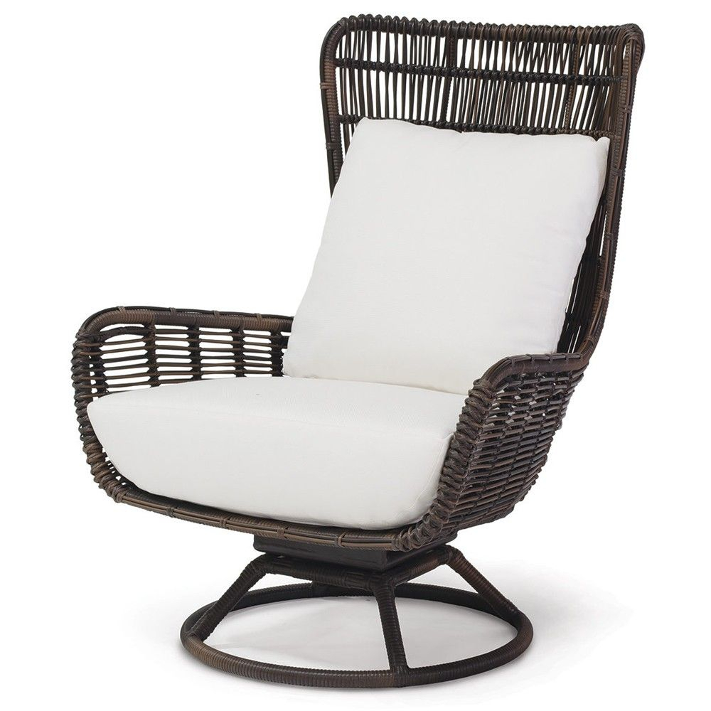 Woven High Back Swivel Chairs Patio Seating Ideas