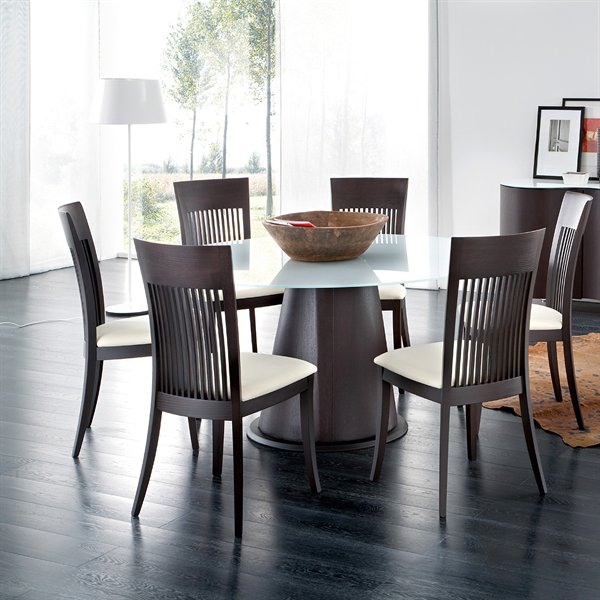 Palio/aston Round Dining Set Six Dining Chairs Included Throughout Dom Round Dining Tables (Image 21 of 25)