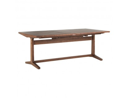 Parker 8 – 12 Seat Walnut Stain Extending Dining Table Regarding Dining Tables With Stained Ash Walnut (View 21 of 25)
