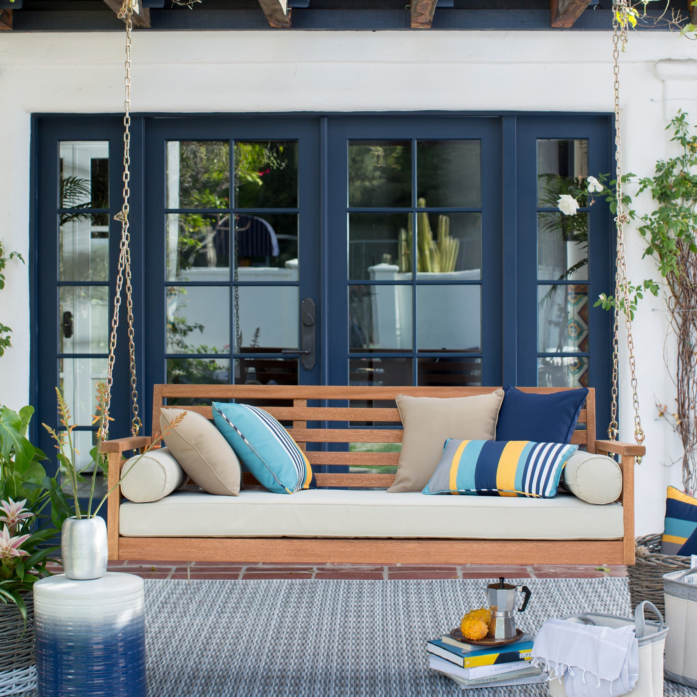 Patio Furniture & Accessories Mainstays Belden Park Outdoor Regarding Porch Swings (View 23 of 25)