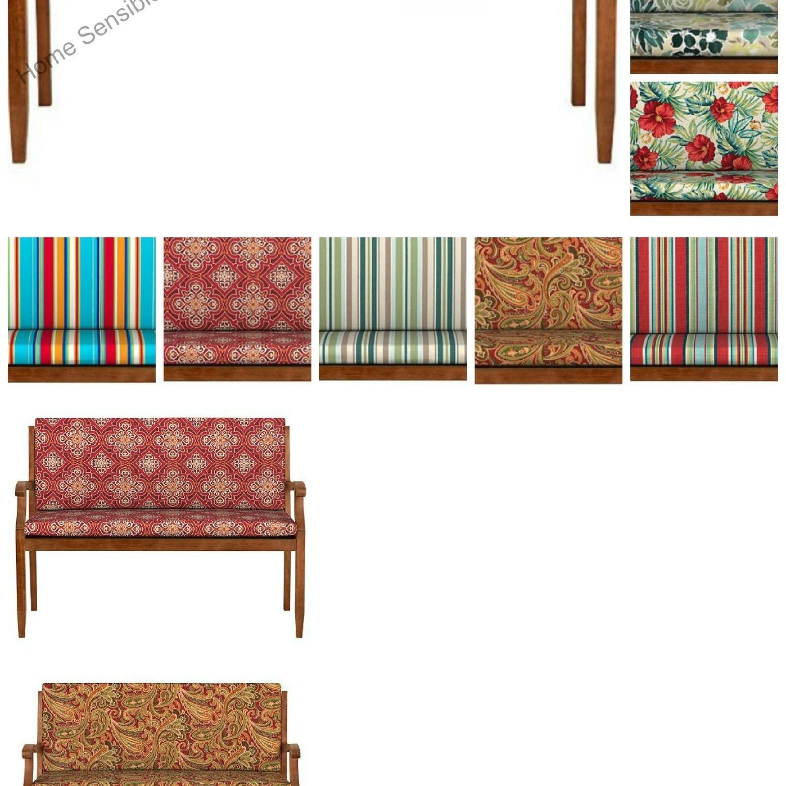 Patio Furniture Cushions And Pads 79683: 40 Hinged Glider With Glider Benches With Cushion (View 25 of 25)