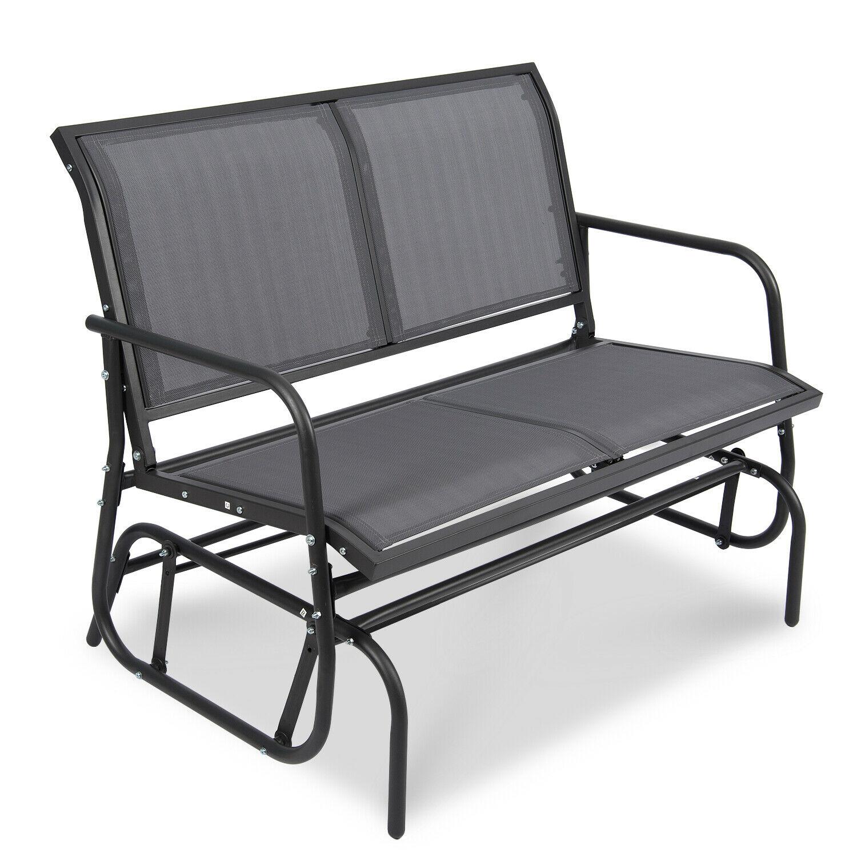 Patio Garden Glider 2 Person Swing Bench Rocking Chair Porch Outdoor  Furniture Regarding Outdoor Patio Swing Glider Bench Chair S (View 12 of 25)