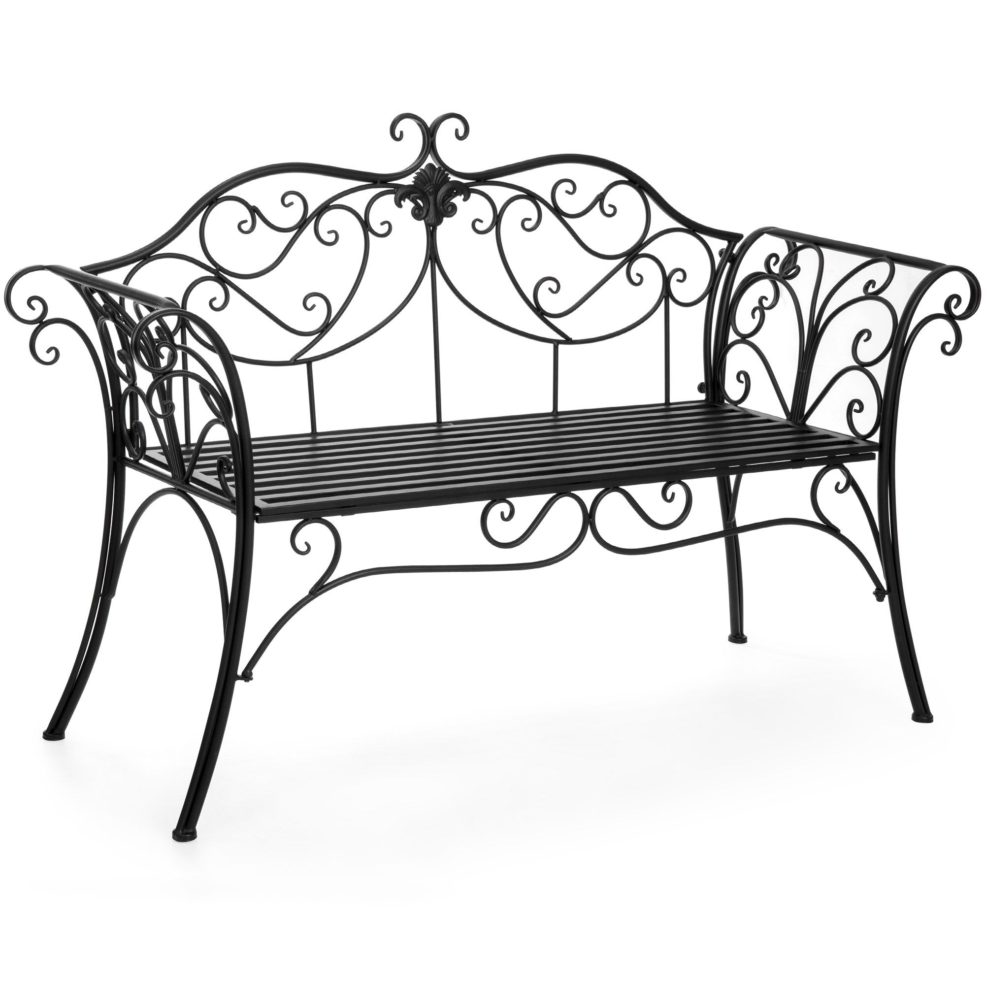 Patio & Garden | Metal Patio Furniture, Patio Furniture Sets In 2 Person Antique Black Iron Outdoor Swings (View 3 of 25)