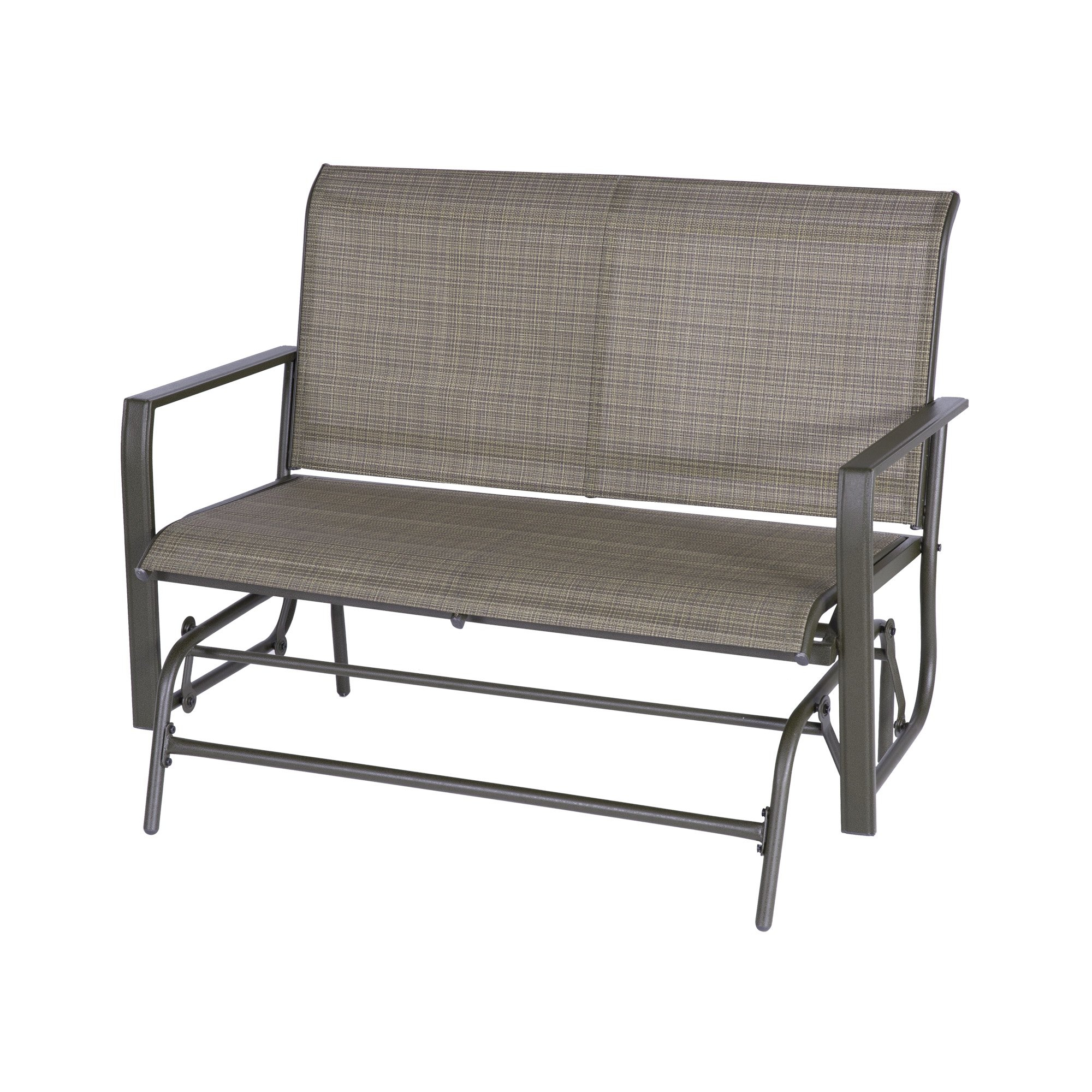 Patio Glider Bench Loveseat Outdoor Cushioed 2 Person In Outdoor Steel Patio Swing Glider Benches (View 16 of 25)