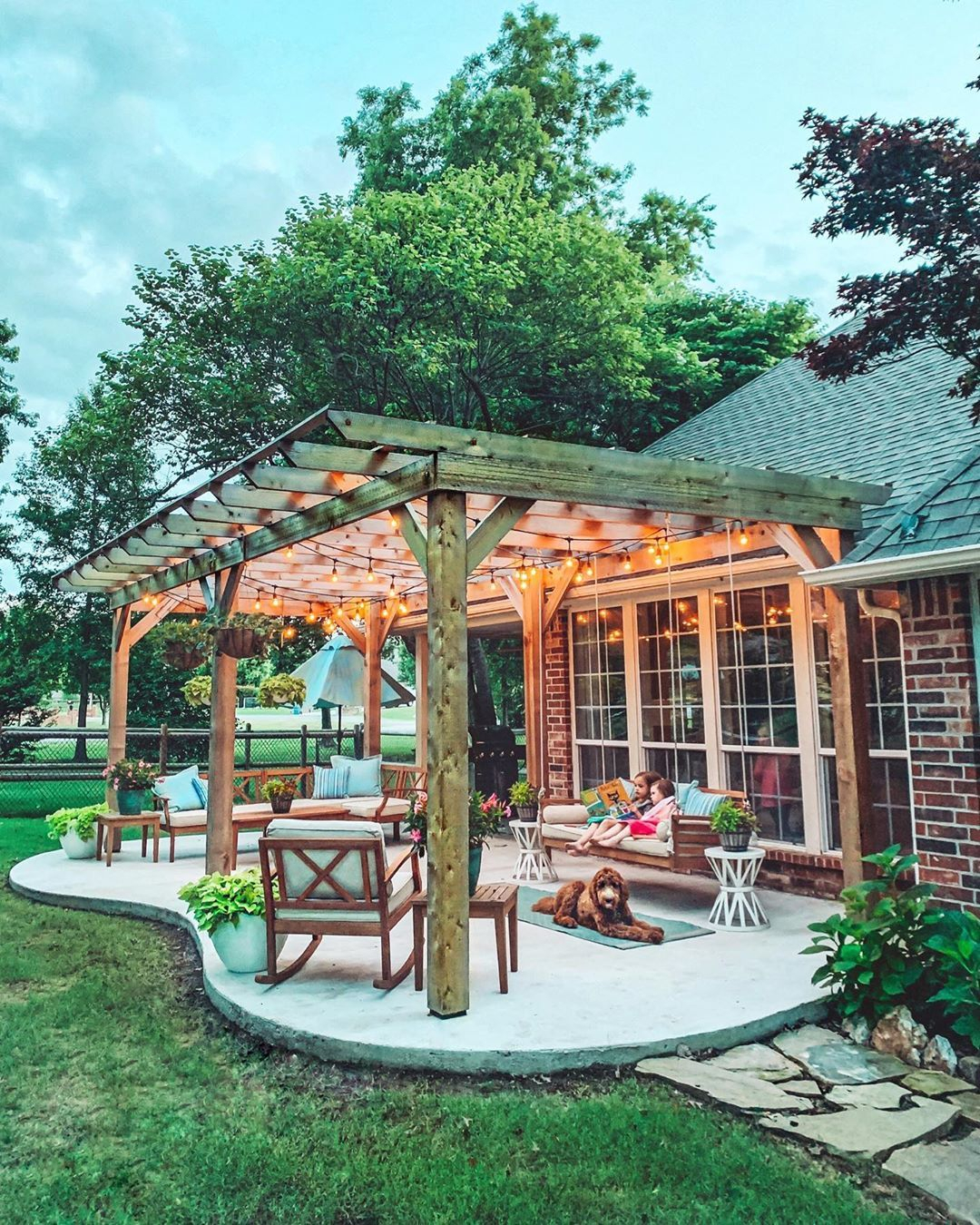 Patio Life – Summer Nights Outside On The Porch Swing Under Within Patio Gazebo Porch Swings (View 12 of 25)