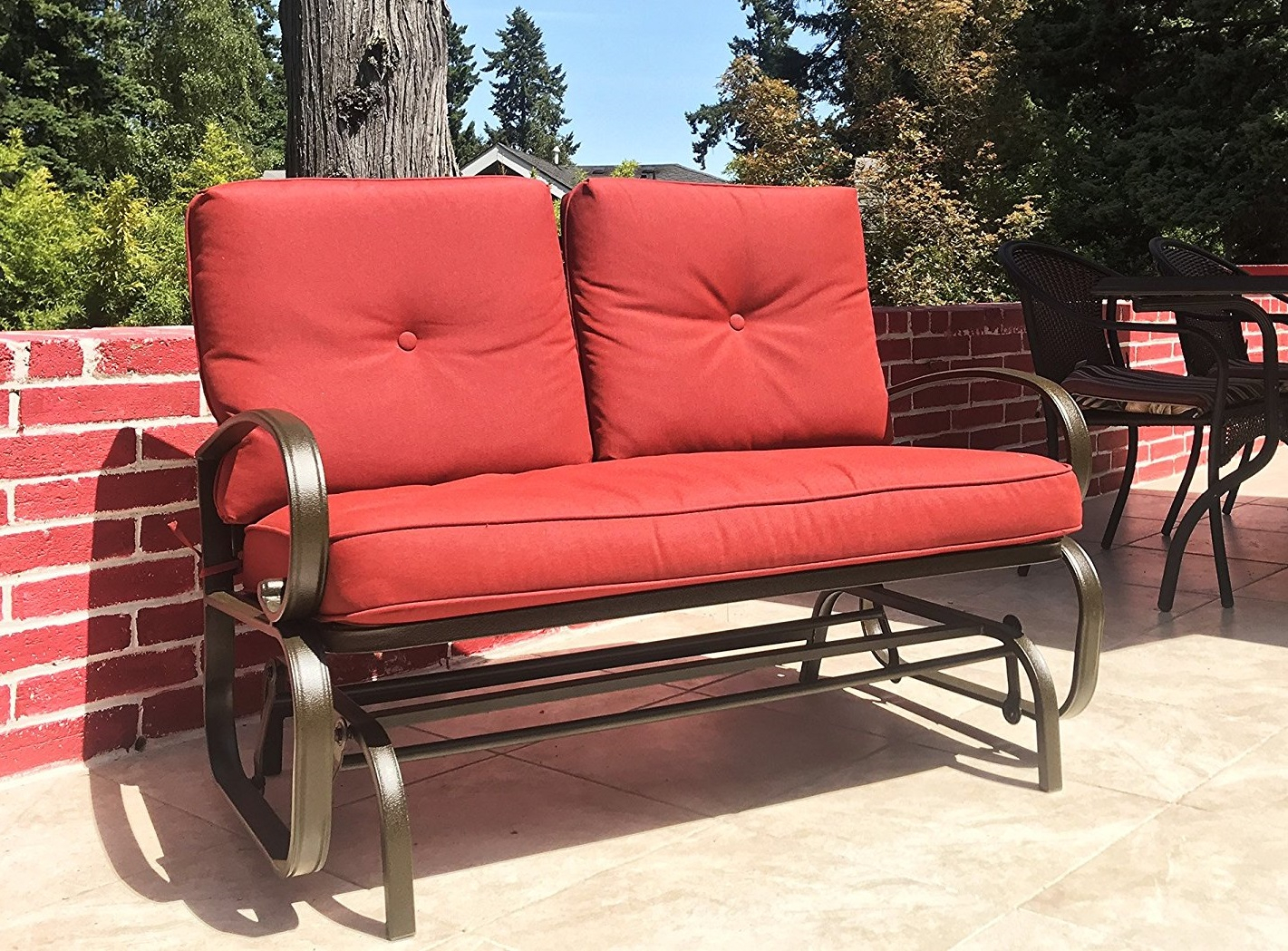 Patio Makeover: Outdoor Loveseat Glider – The Complete With Loveseat Glider Benches (View 22 of 25)