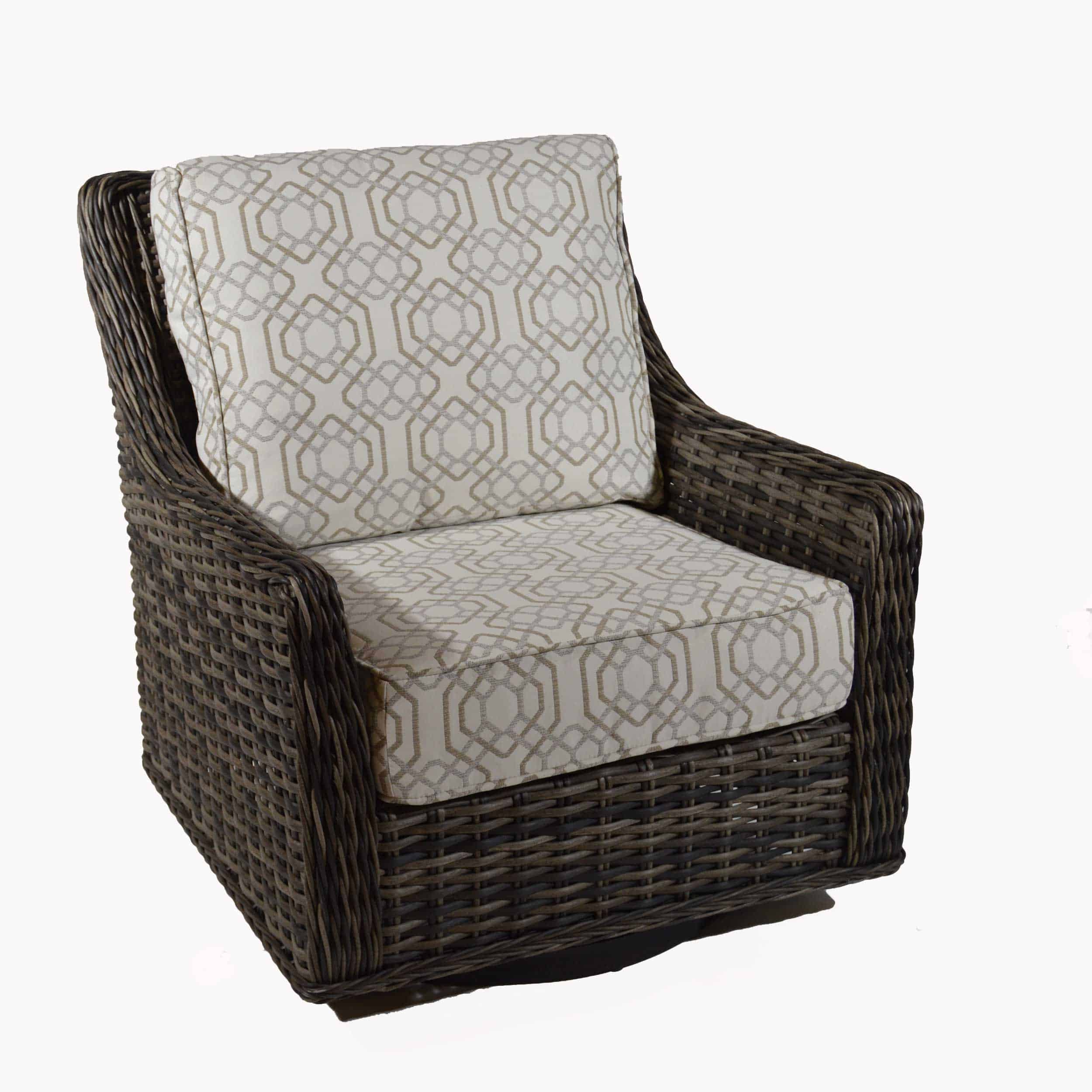 Patio Renaissance Catalina Cushion Woven Highback Swivel For Woven High Back Swivel Chairs (Image 18 of 25)