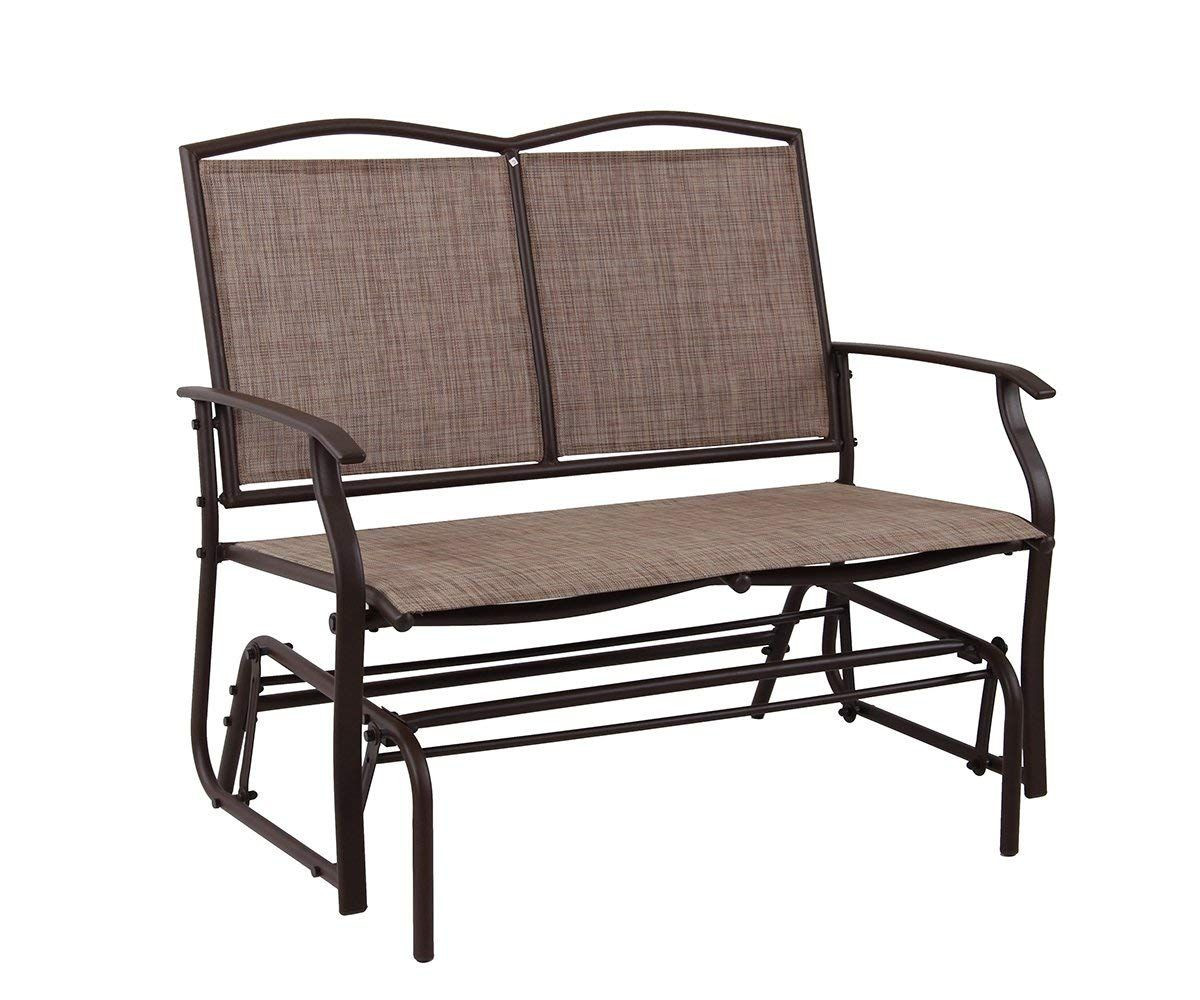Patio Swing Glider Bench For 2 Persons Rocking Chair, Garden With Regard To Outdoor Steel Patio Swing Glider Benches (View 11 of 25)
