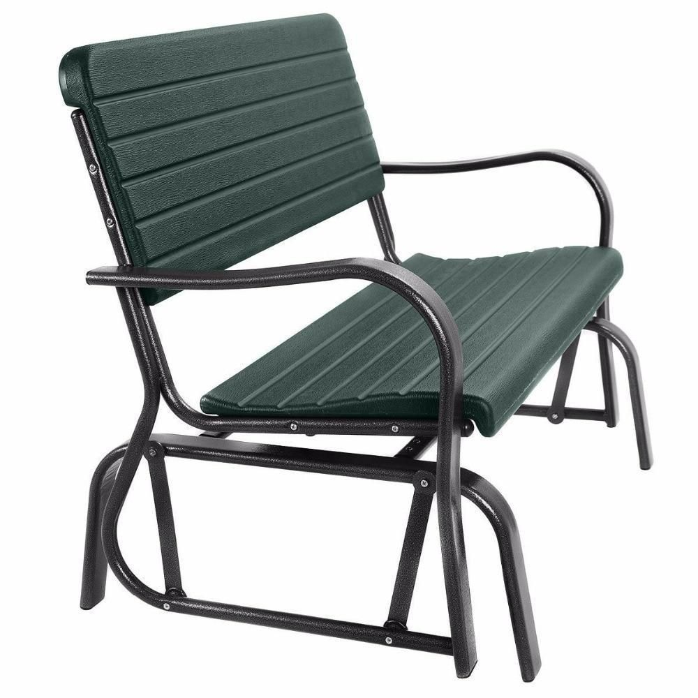 Patio Swing Outdoor Porch Rocker Glider Bench Loveseat Intended For Steel Patio Swing Glider Benches (View 10 of 25)