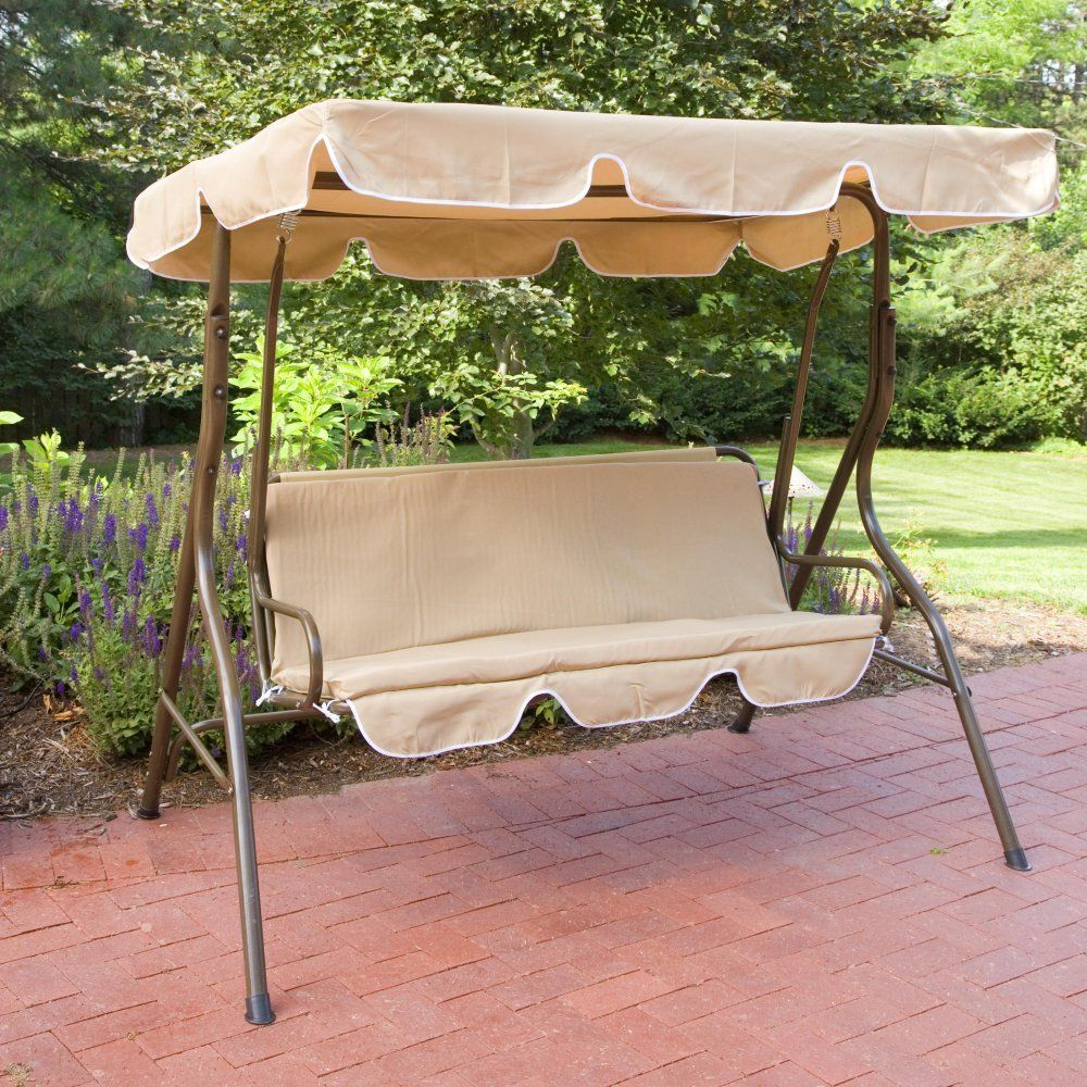 Featured Image of 2 Person Adjustable Tilt Canopy Patio Loveseat Porch Swings