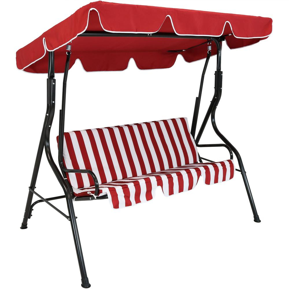 Patio Swings – Patio Chairs – The Home Depot For 2 Person Gray Steel Outdoor Swings (View 17 of 25)