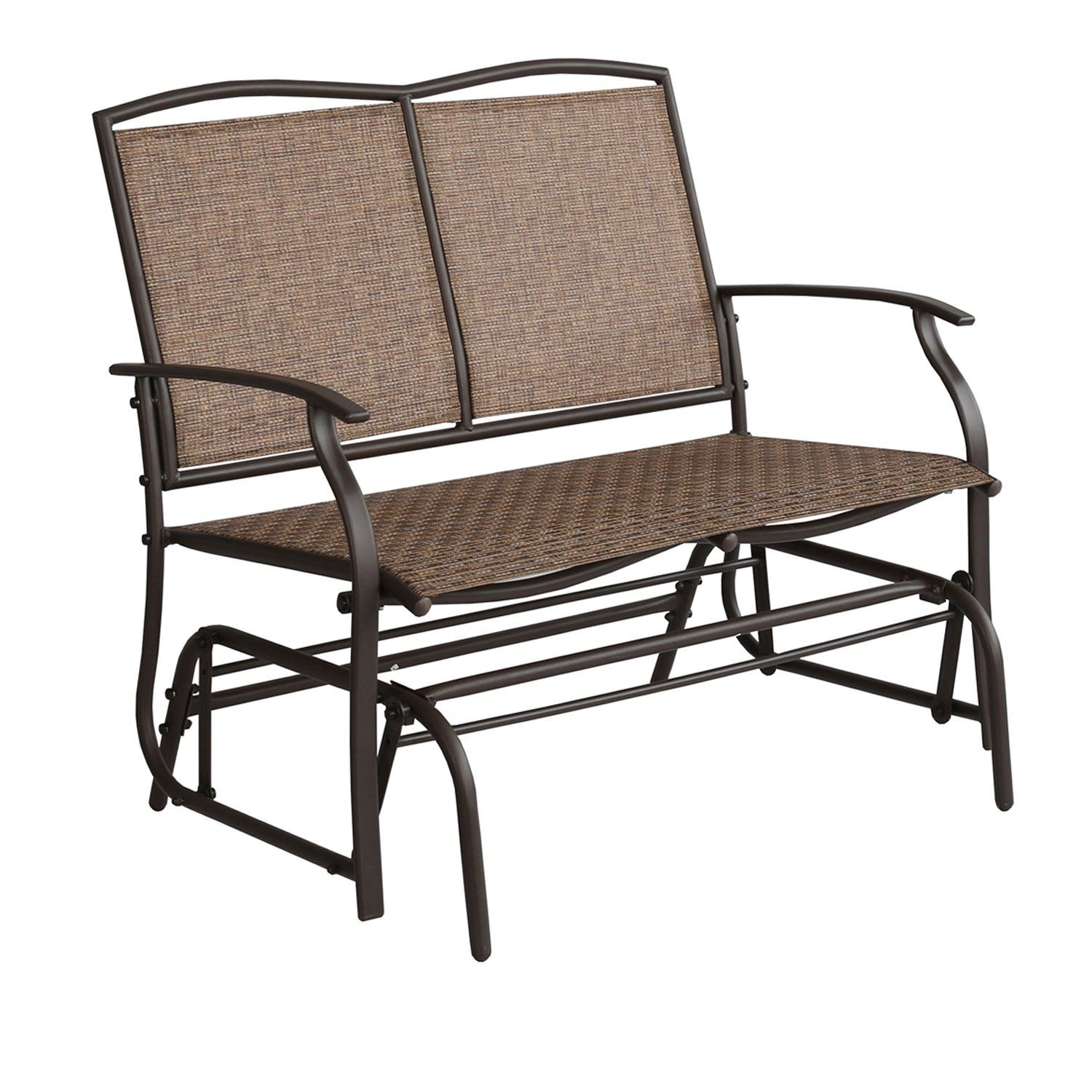 Patio Tree Patio Swing Glider Bench For 2 Person All In Outdoor Patio Swing Glider Bench Chairs (View 11 of 25)