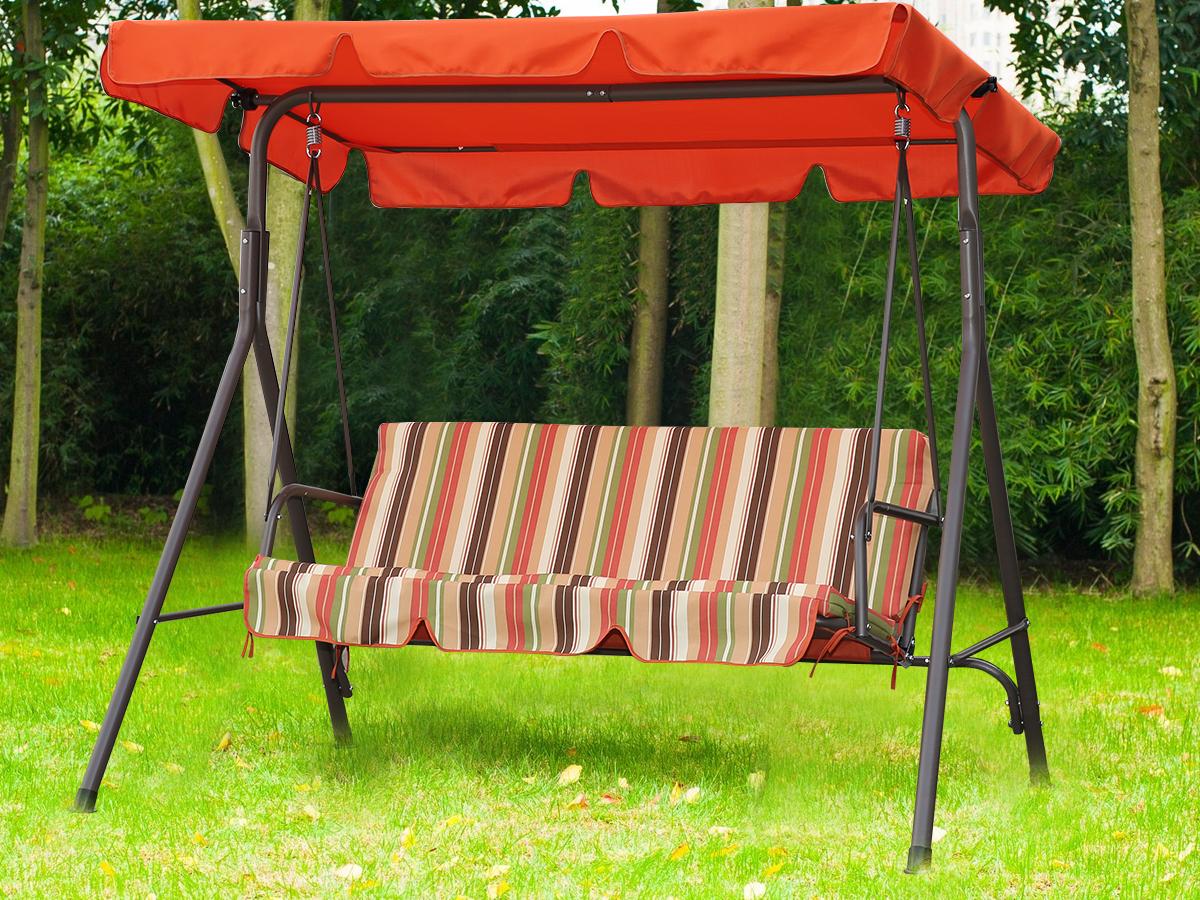 Patriotic 3 Seater Swing – Swings – Outdoor Furniture For 3 Seat Pergola Swings (View 8 of 25)