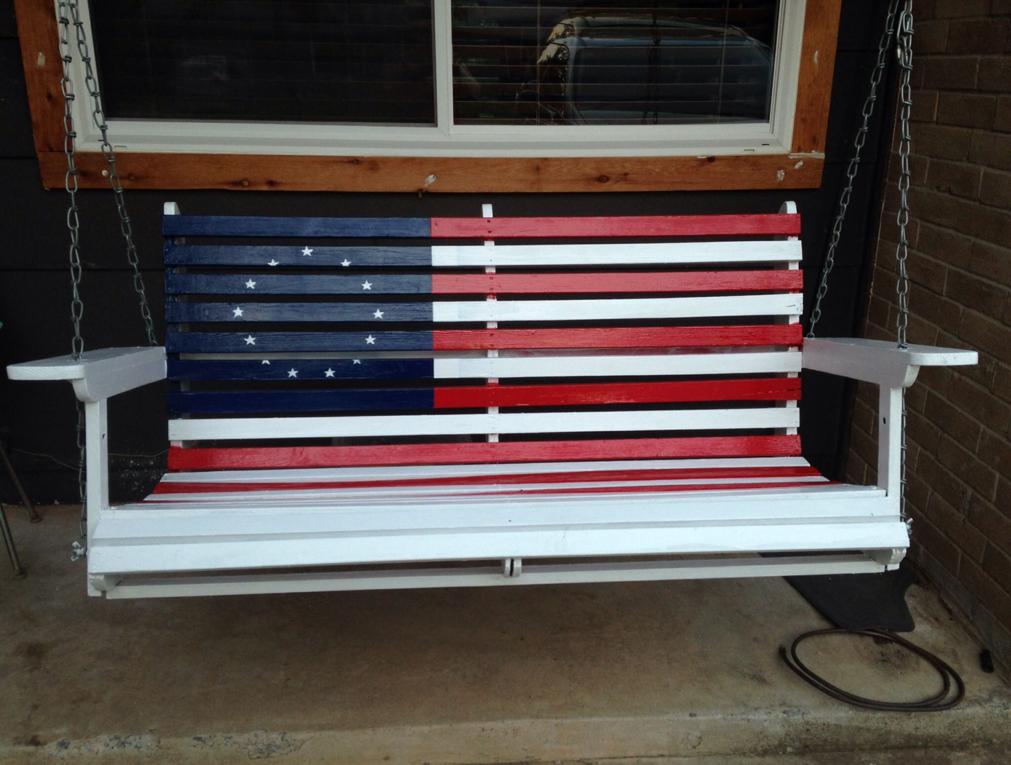 Featured Image of American Flag Porch Swings