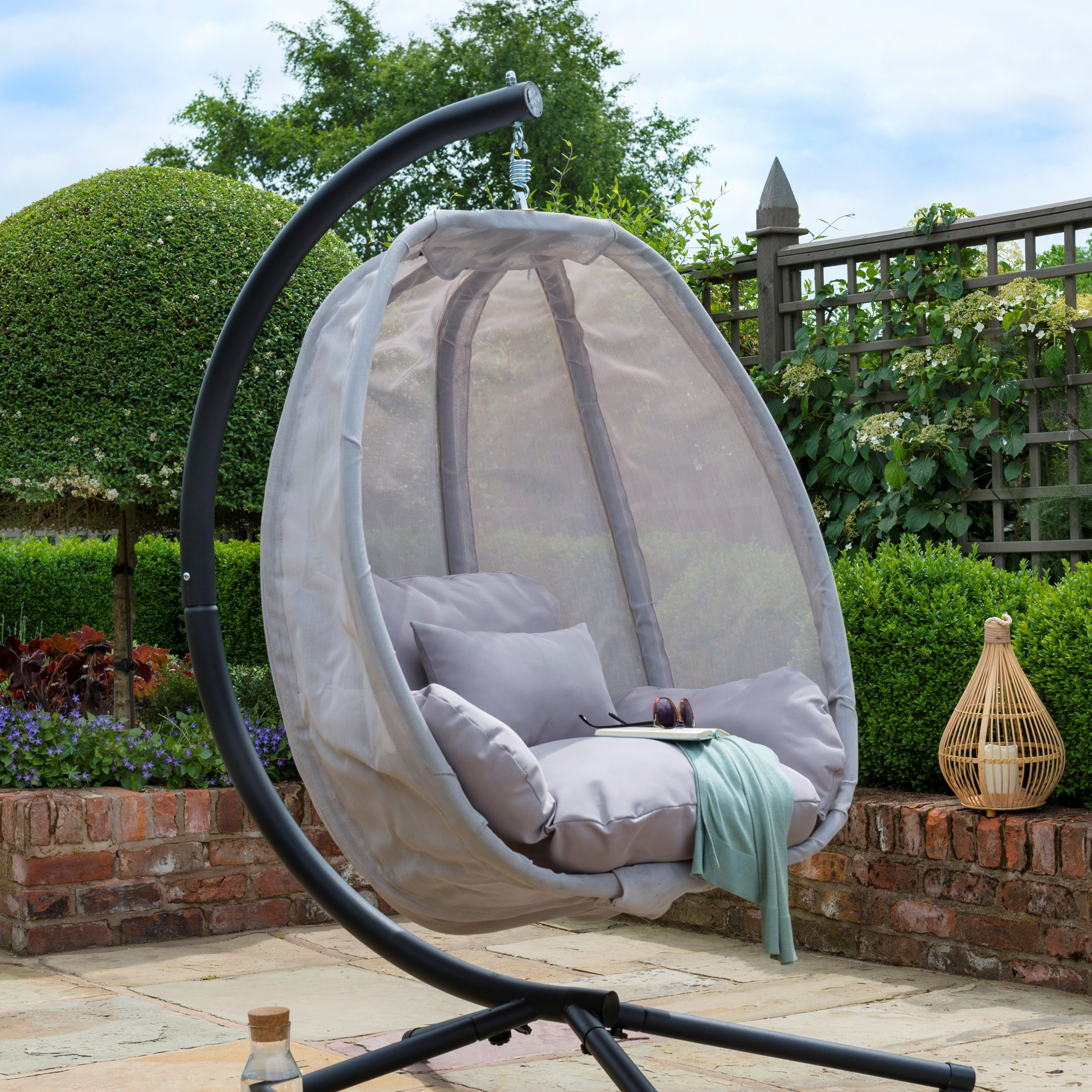 Pedro Swing Seat With Stand | Swing Seat, Hanging Egg Chair Within Outdoor Pvc Coated Polyester Porch Swings With Stand (View 19 of 25)