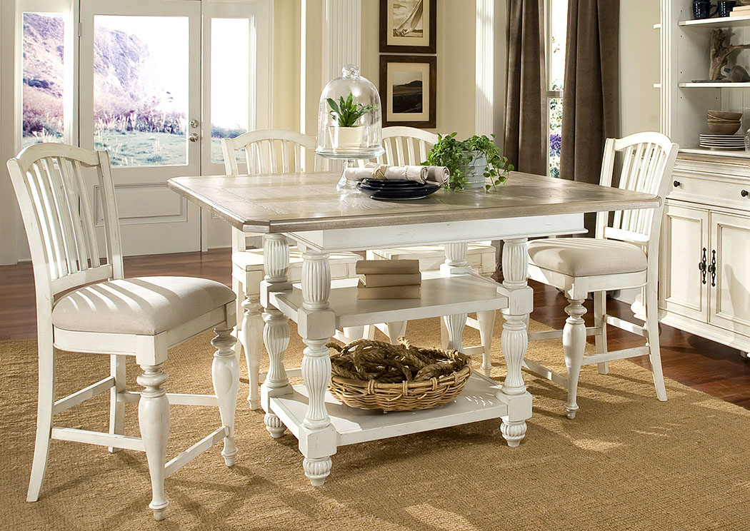 Penland's Furniture Coventry Two Tone Weathered Driftwood In Transitional Driftwood Casual Dining Tables (View 11 of 25)