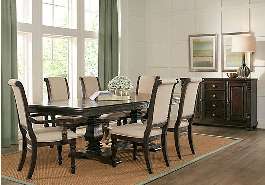 Picture Of San Luis Oak 7 Pc Rectangle Dining Room From Throughout Transitional 3 Piece Drop Leaf Casual Dining Tables Set (View 4 of 25)