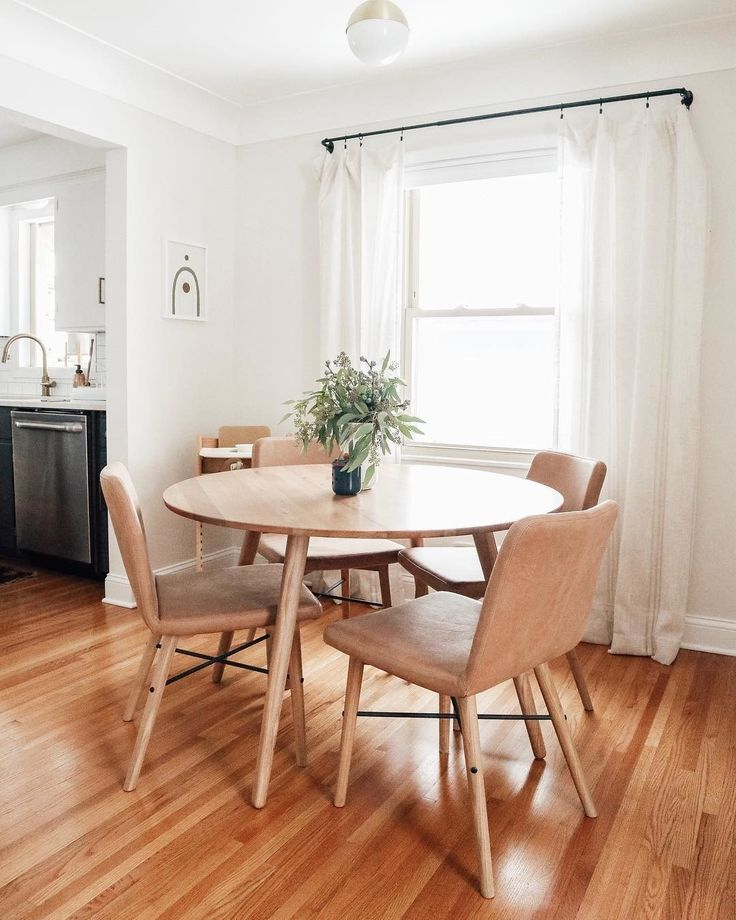 Pin On Dining Rooms Within Rustic Mid Century Modern 6 Seating Dining Tables In White And Natural Wood (View 6 of 25)