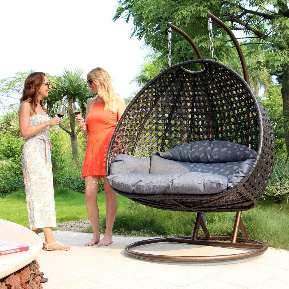Pin On Patio Loveseat Throughout Rattan Garden Swing Chairs (View 12 of 25)