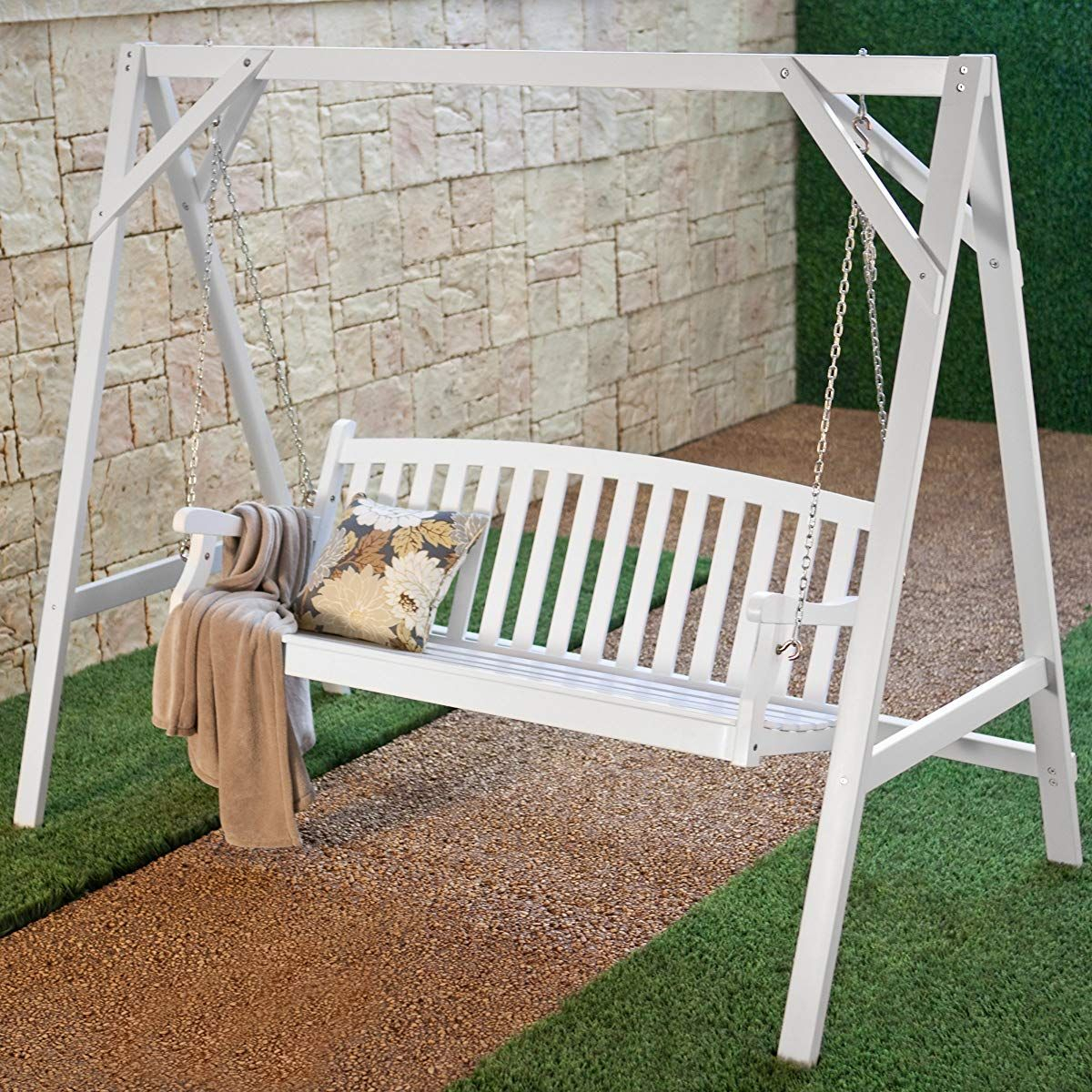 Pin On Porch Swing With Hardwood Hanging Porch Swings With Stand (View 4 of 25)