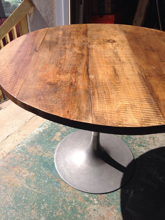 Pincasahoma On Dining Furniture | Rustic Round Table For Small Round Dining Tables With Reclaimed Wood (View 6 of 25)