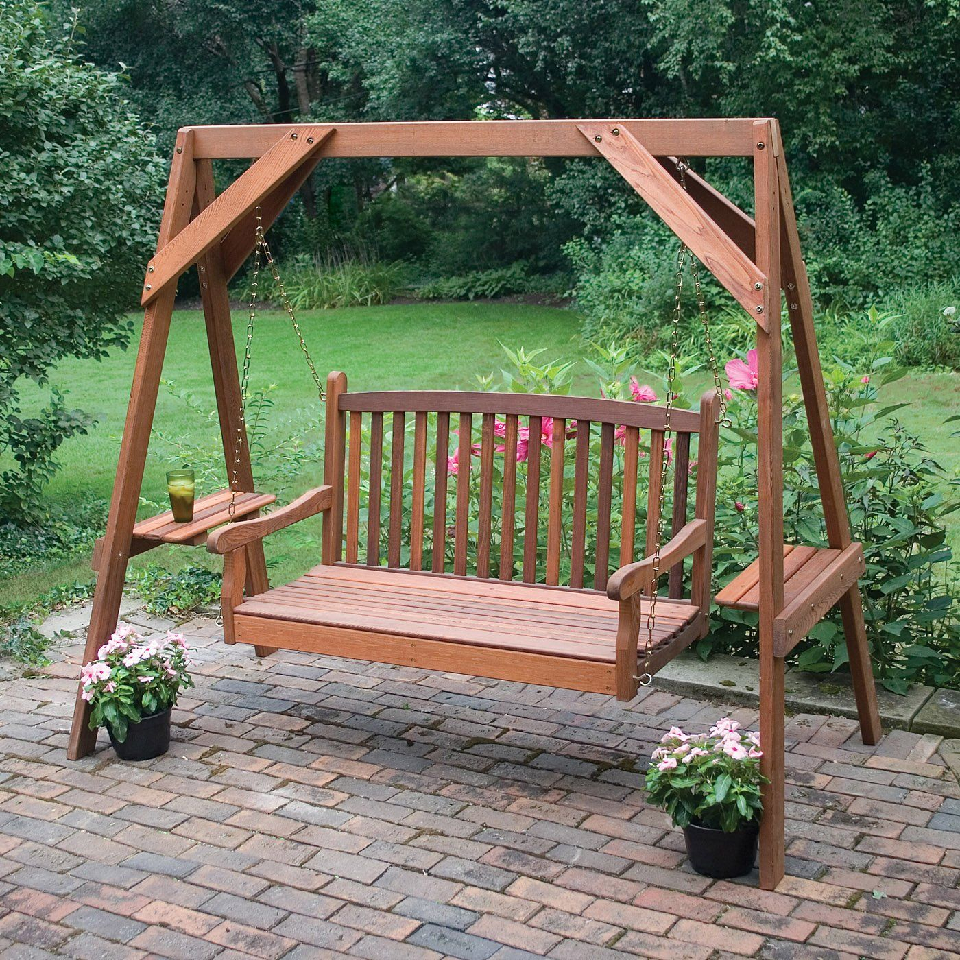 Pindoesn't Matter On Cozy Corners | Garden Swing Seat In Patio Porch Swings With Stand (View 15 of 25)