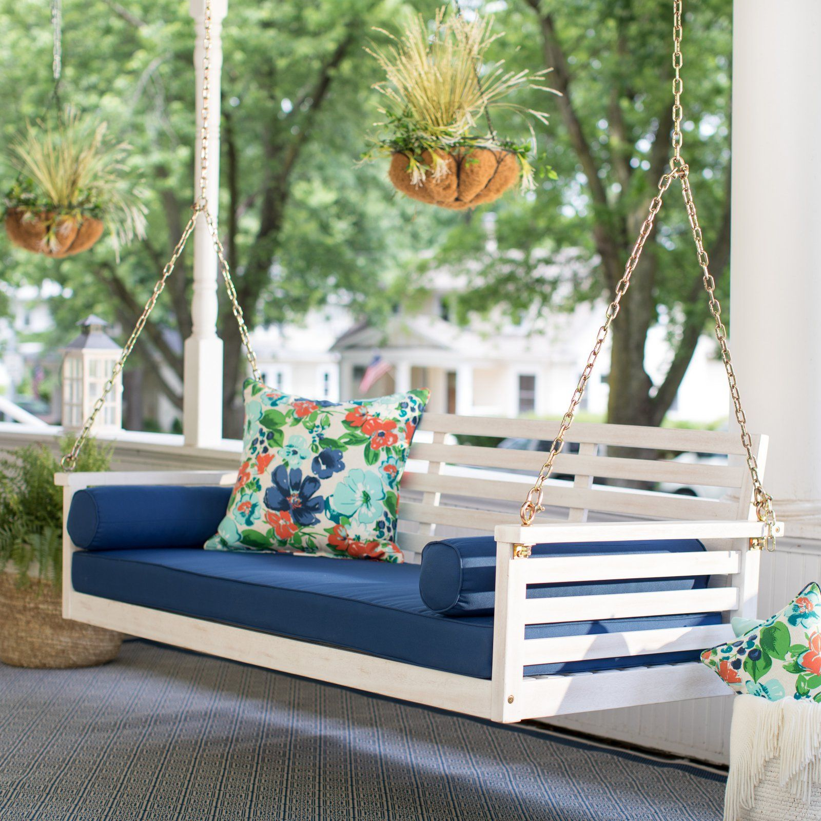 Pinlaura Harris On Alford Landing | Wicker Porch Swing For Country Style Hanging Daybed Swings (View 10 of 25)