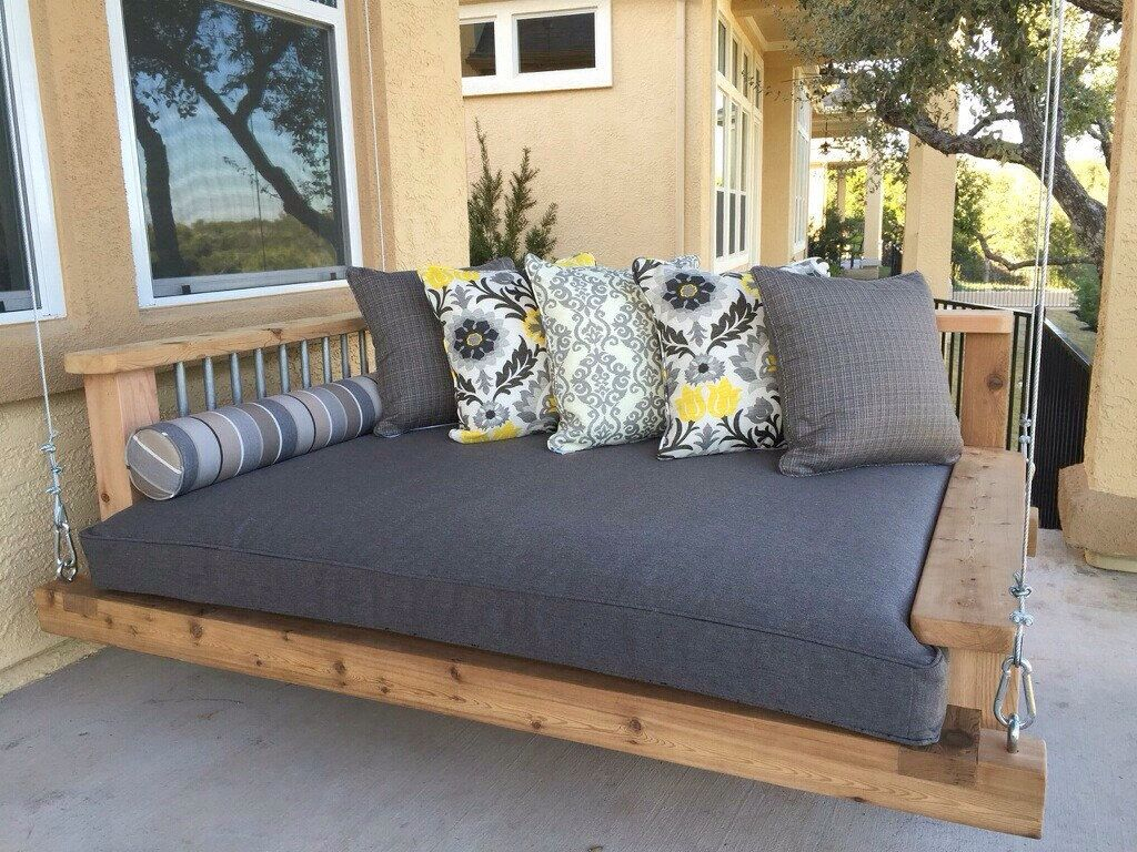Pinreva Powell On Bed Linen | Outdoor Porch Bed, Porch Inside Day Bed Porch Swings (Image 18 of 25)