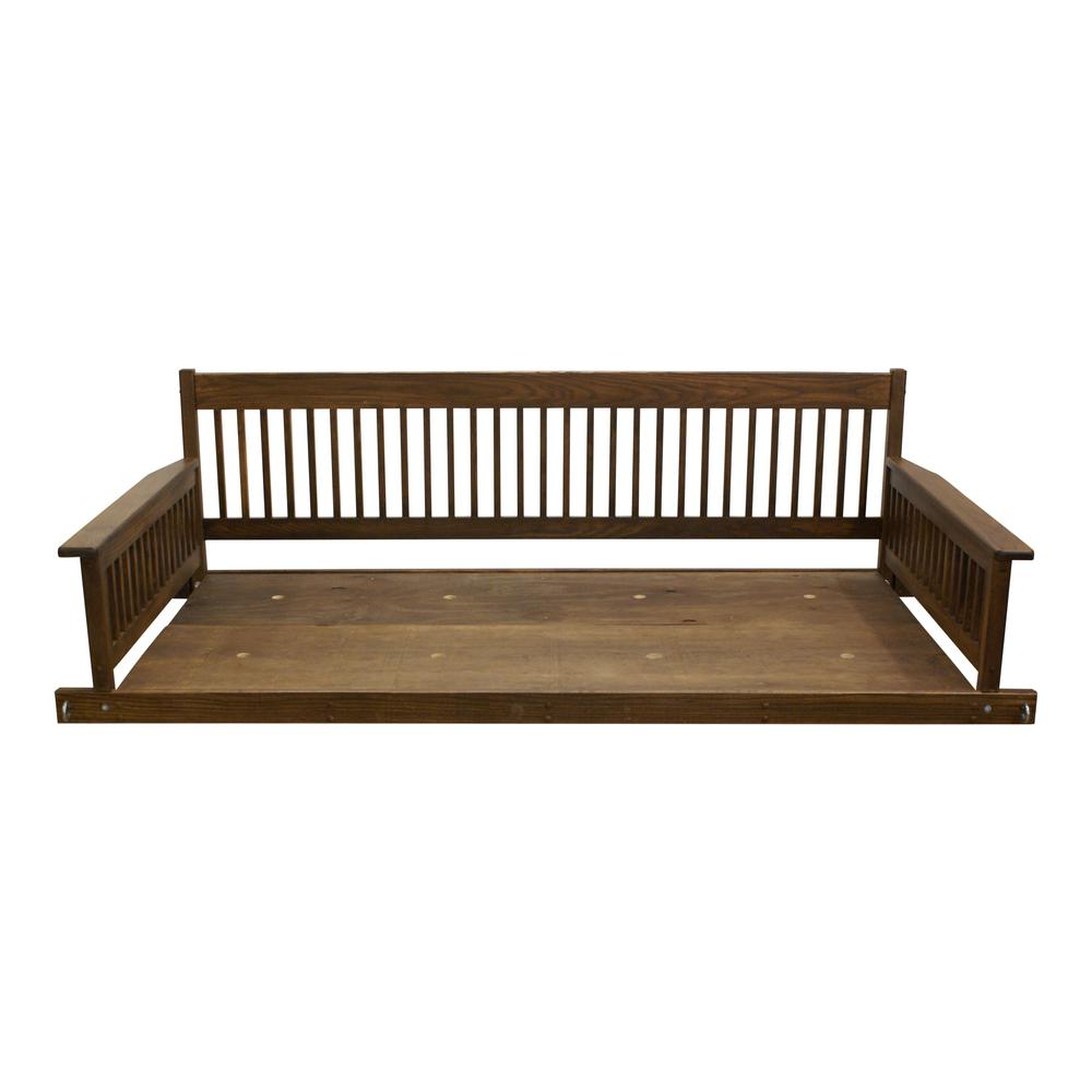 Plantation 2 Person Daybed Danish Wooden Porch Patio Swing Inside Casual Thames Black Wood Porch Swings (View 18 of 25)