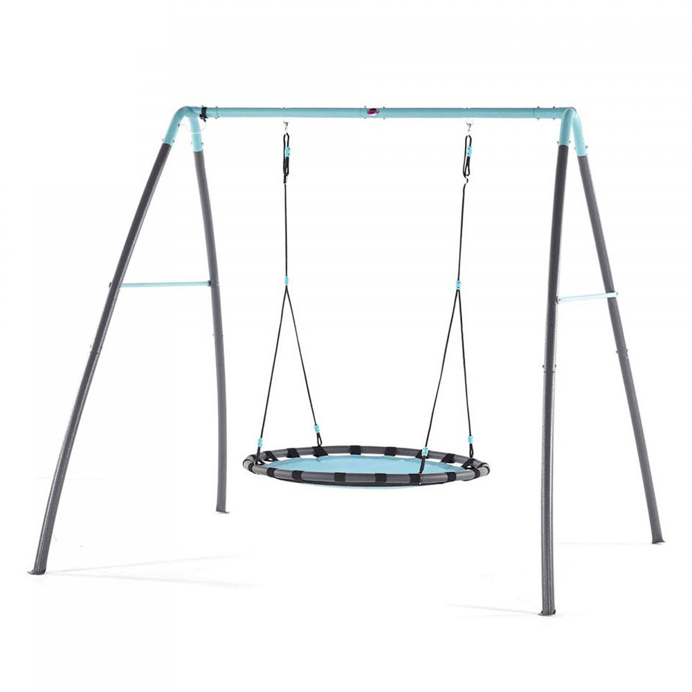 Plum – Metal Nest Swing W/ Mist Feature Inside Nest Swings With Adjustable Ropes (View 7 of 25)