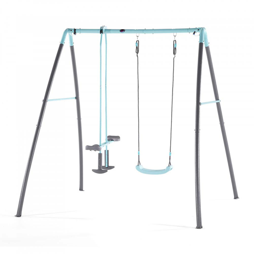 Plum – Metal Single Swing & Glider W/ Mist Feature Throughout Dual Rider Glider Swings With Soft Touch Rope (View 4 of 25)