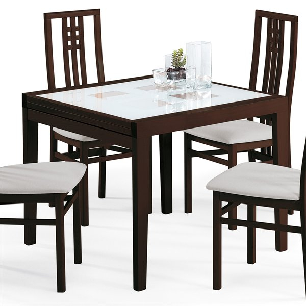 Poker Square Dining Table Wenge | Dining Tables With Dom Square Dining Tables (Image 21 of 25)