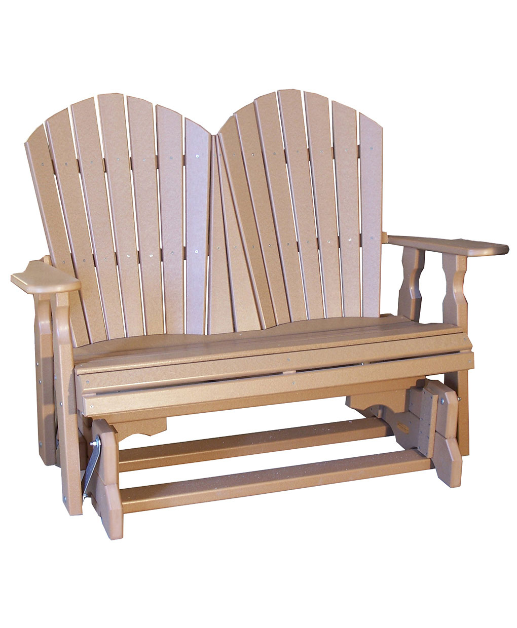 Poly Classic Loveseat Glider Intended For Classic Adirondack Glider Benches (View 9 of 25)