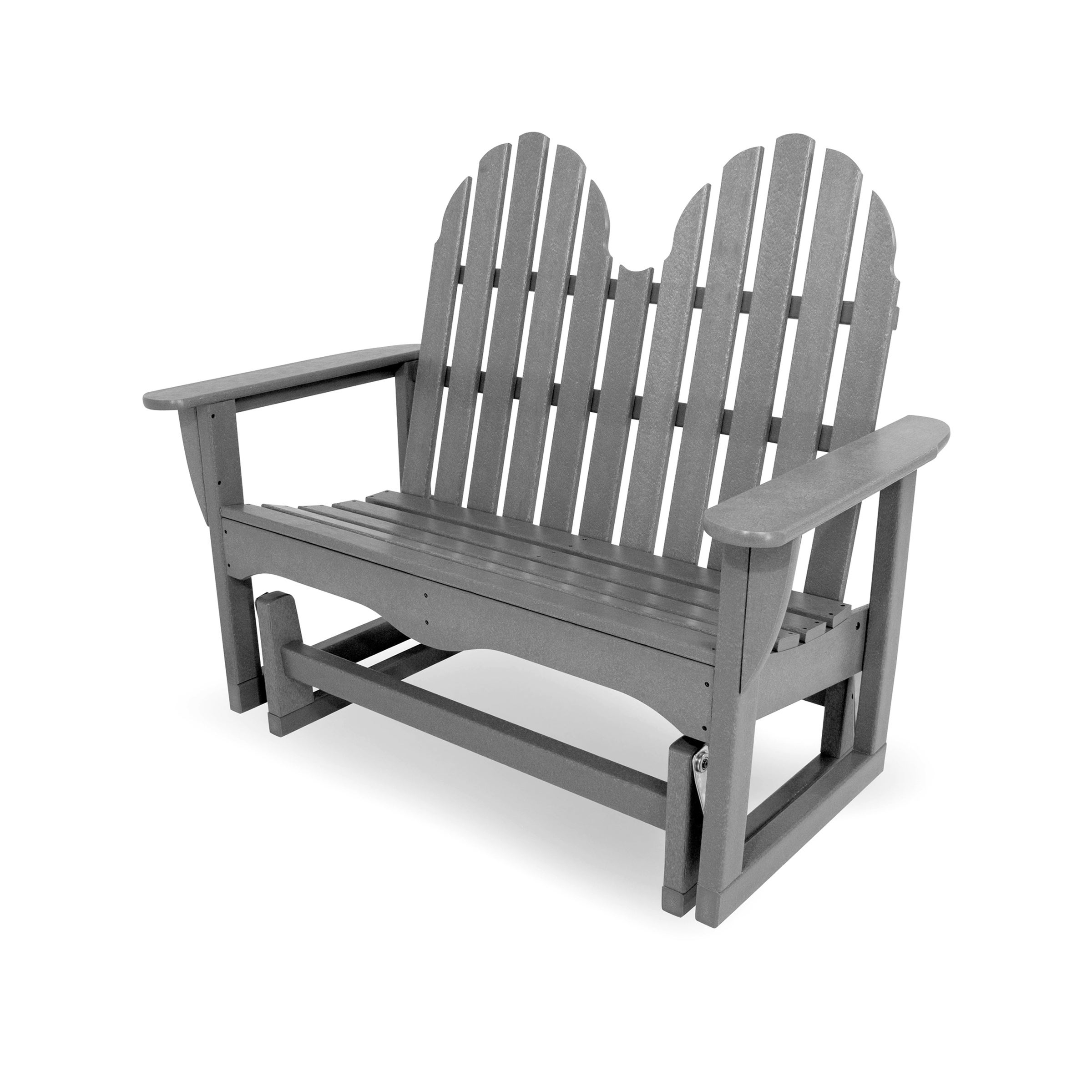"Polywood® Classic Adirondack 48"" Outdoor Glider Bench Pertaining To Classic Glider Benches (View 22 of 25)"