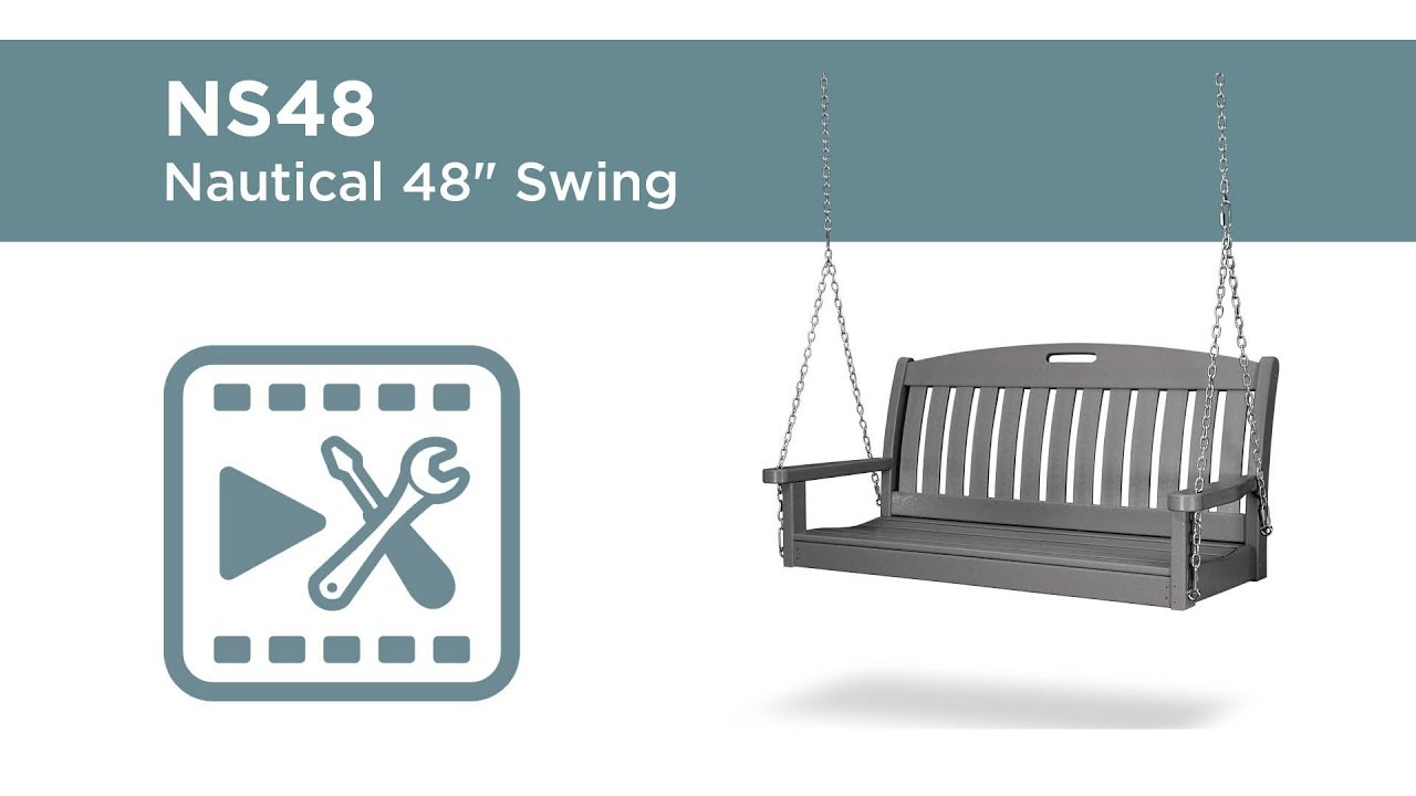Polywood® Ns48 Assembly Video Intended For Nautical Porch Swings (View 15 of 25)